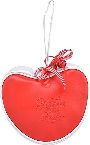 Küstenluder Damen Tasche Heart Shaped Herz Handtasche Rot