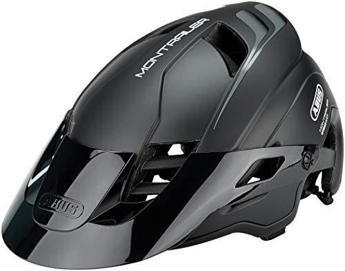 ABUS MonTrailer Mountainbike-Helm - Robuster Fahrradhelm für den Geländeeinsatz - für Damen und Herren - 78136 - Schwarz Matt, Größe L