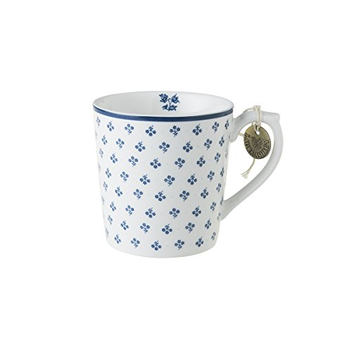 Laura Ashley - Henkelbecher, Henkeltasse, Tasse - Blueprint Petit Fleur - 12 x 8,9 cm - Groß