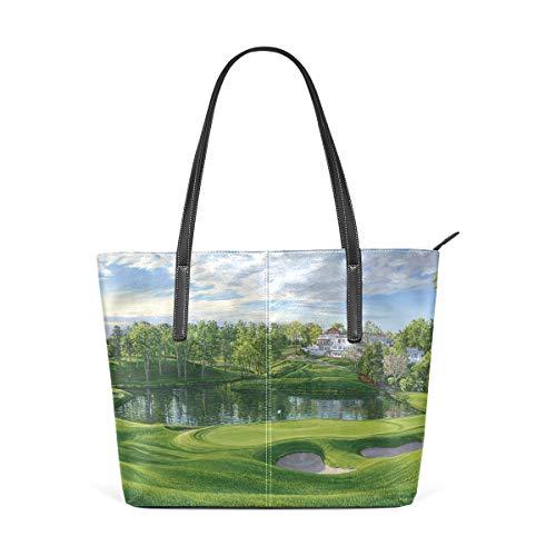 DEZIRO Increíbles Campo de Golf Paisajes Señoras Bolsos de hombro para uso Saily