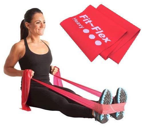 Fit Flex Resistance Exercise Band 2m Length 3 Flex Options Pilates Yoga Rehab Stretching Strength Training