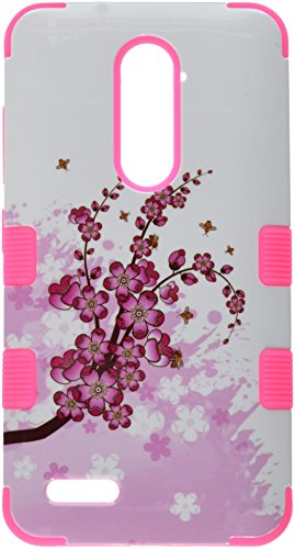 Asmyna Cell Phone Case for ZTE Zmax Pro - Spring Flowers/Electric Pink