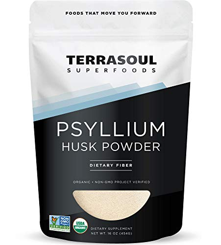Terrasoul Superfoods Organic Psyllium Husk Powder, 1 Lb - Superfine Texture | High Purity | Keto Baking