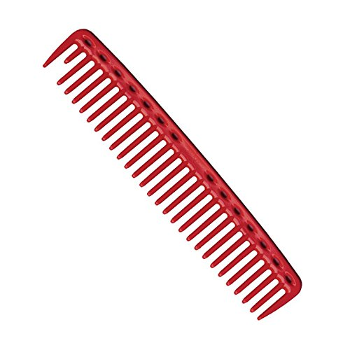 YS Park 452 Wide Round Tooth Cutting Comb In (RED) Made in Japan + FREE Double Dip Comb/Brush ($4 value)