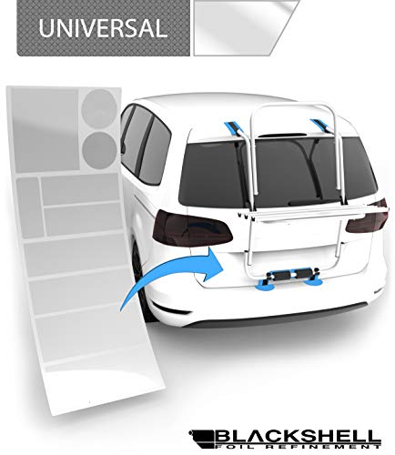 Blackshell® Lackschutzfolie transparent für Heckklappenträger/Fahrradträger + Profi Rakel für Folie - 10 teiliges Universal Set - Schutzpads, Fahrradträger Zubehör
