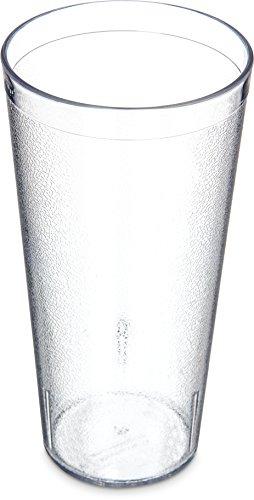 Carlisle 5224-8107 BPA Free Plastic Stackable Tumbler, 24 oz., Clear (Pack of 6)