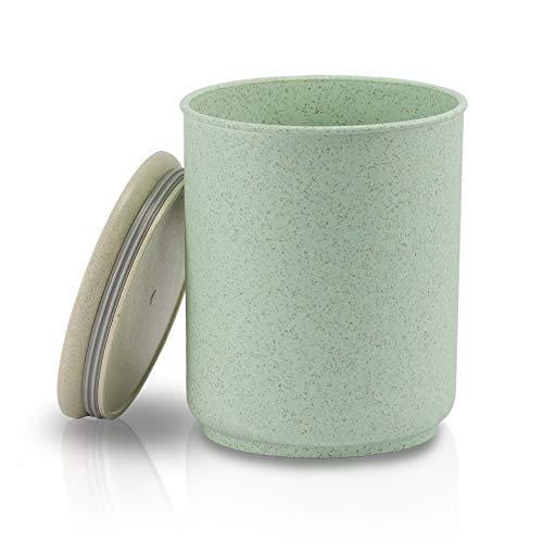 Avoidwaste Nachhaltige Vorratsdose (800 ml) - Die Frischhaltedose gefertigt mit Weizenstroh - Aufbewahrungsbox, perfekt für das Unverpackt Einkaufen, Kaffeedose oder auch als Lunchbox