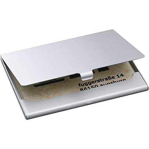SIGEL VZ135 Visitenkarten-Etui silber matt, Alu