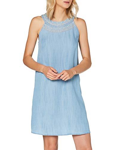 edc by ESPRIT Damen 040CC1E337 Kleid, 903/BLUE Light WASH, S