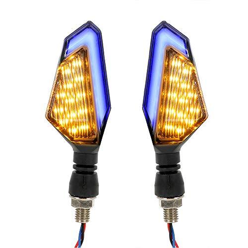 2 unids/Set Frontal Motorbike Motorbike Blinker DC 12V Universal Motorcycle LED Gurn Sign Sign Light Light Lámpara de señal Moto Accesorios (Color : Yellow and Blue)