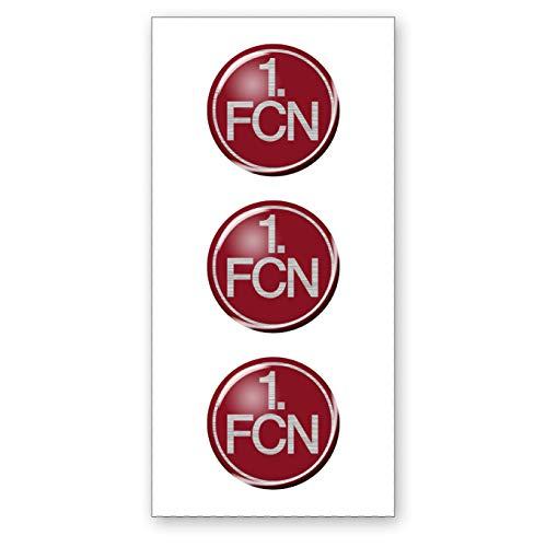1. FC Nürnberg Aufkleber 3D 3er Set 1. FCN