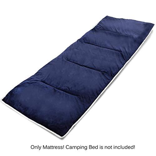 REDCAMP Matratze für Campingbett, 190x71cm Matte für Feldbett, Weiche Matratze zum Zusammenklappen des Campingbettes, Marineblau