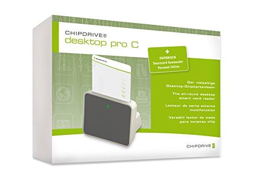 Unbekannt CHIPDRIVE 905509interne USB 2.0, weiß Smart Card Reader–SMART Kartenleser (USB 2.0) grau