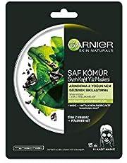 Garnier Skin Naturals Skin Naturals Kömürlü Kağıt Yüz Maskesi Siyah Yosun 1 Paket (1 x 32 g)