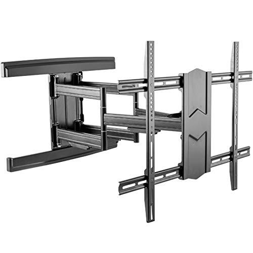 Soporte de Pared para TV Soporte de soporte de pared de TV fijo para la mayoría de los televisores curvos planos de 43-100 pulgadas, se mantiene hasta 70 kg, VESA 800x600mm con nivel de burbuja