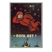 ソビエト連邦のヴィンテージスターリン古いポスタークリエイティブポスタークラシックキャンバス絵画壁アート家の装飾-50x70cmフレームなし