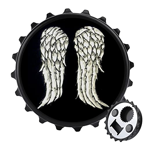 Walking Dead Daryl Dixon Wings And Crossbow Refrigerator magnetic bottle opener, not easy to lose, easy to use, unique bottle cap design, exquisite and practical