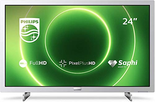 Televisor Philips 24PFS6855/12 Televisor 24 Pulgadas LED,Full HD, HDR 10, Pixel Plus HD, Smart TV, DTS-HD, HDMI,Modelo 2020/2021, Plateado Claro, 60 cm