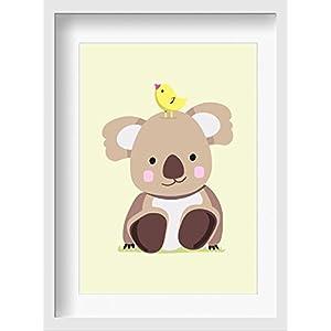 """Bilder Kinderzimmer Poster""""Karl Koala"""" – hochwertiger Druck auf Qualitäts-Papier, pastellfarben (ungerahmt) …"""