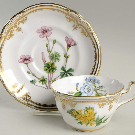 Stafford Flowers (Bone) Flat Cup & Saucer Set by Spode | Replacements, Ltd.