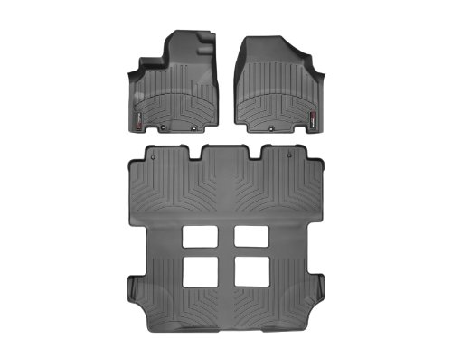 WeatherTech Custom Fit FloorLiner for Honda Odyssey - 1st, 2nd, 3rd Row (Black)