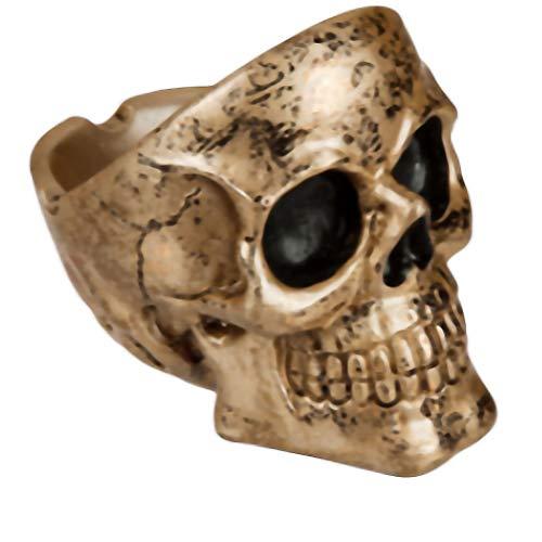 Goth, Skull and steampunk Cendrier en résine Crâne
