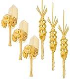 Palma domingo de ramos/palma semana santa/palma blanca/palmas y palmones/palmas de solapa/pack 3 rosas + 3 ojal larga