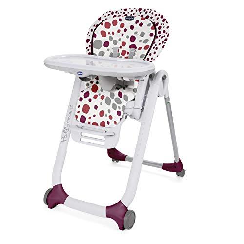 Chicco Polly Progres5 Seggiolone con 4 Ruote, Bambini Unisex, 0m+, Rosso (Cherry)