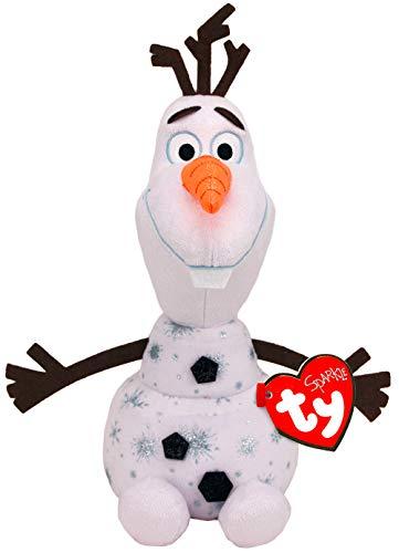 TY 90192 Olaf W/Sound Frozen 2 Plüschtier, Mehrfarbig