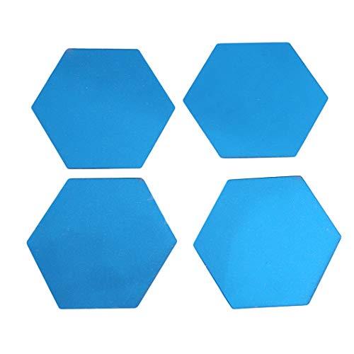 ULILICOO Hexagon abnehmbare Spiegel Wandaufkleber selbstklebende Home Wohnzimmer Schlafzimmer Store Art Dekoration Fliesen Spiegel Wandaufkleber (blau)