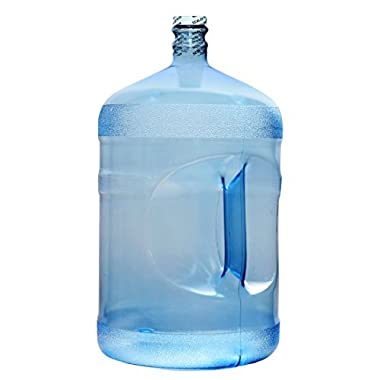 BPA-Free Reusable Plastic Water Bottle Gallon Jug Container - Made in USA (5 Gallon)