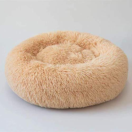 IFRIK zacht bed voor katten en kleine honden, middelgroot formaat, rond kussen voor honden/kat/bed, slaapbank, diámetro 120cm, Gris
