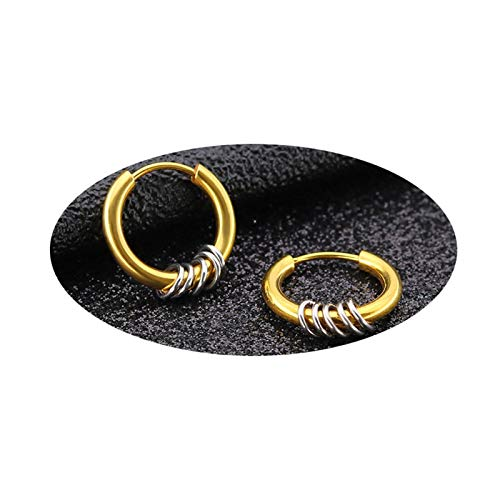 DOLOVE Damen Ohrringe Gold Creolen Silber Modeschmuck Mit Kreise Rund 8 MM Edelstahl Silber Ohrringe Herren