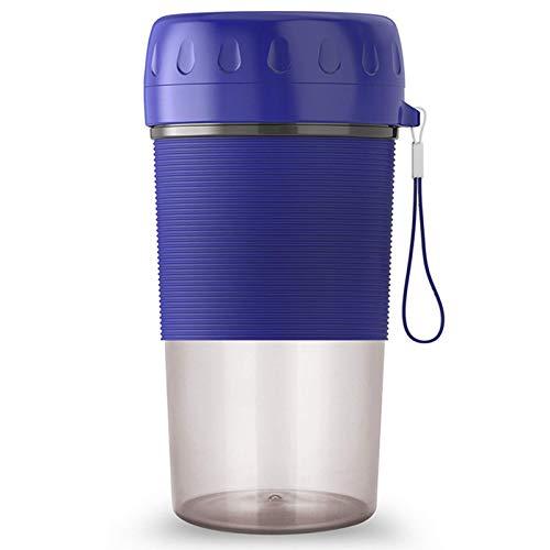 Mini exprimidor, licuadora portátil, Taza exprimidora de Carga USB para el hogar, máquina de Jugo eléctrica pequeña, Regalos para Novia, Azul