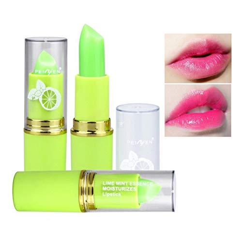 Allbestaye Lime Mint Jelly Lippenstift Farbe Ändern Temperatur Wasserfest Farbwechsel Balsam...