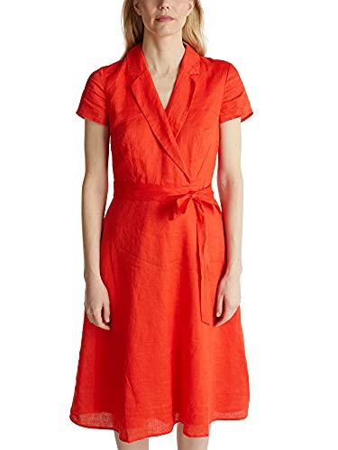 ESPRIT Collection Damen 040EO1E314 Kleid, 825/RED ORANGE, 36