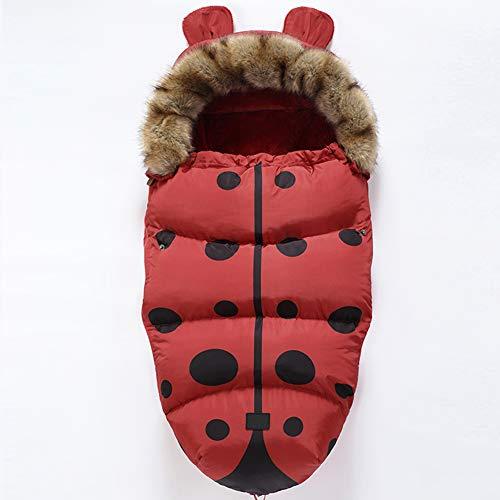 Nuevo Moda Saco de Silla de Paseo Universal Carritos Sacos de Abrigo Invierno Térmica Aire Libre Windproof Impermeable Adecuado para Cochecito Silla de Paseo Sillas de Coche (Rojo)