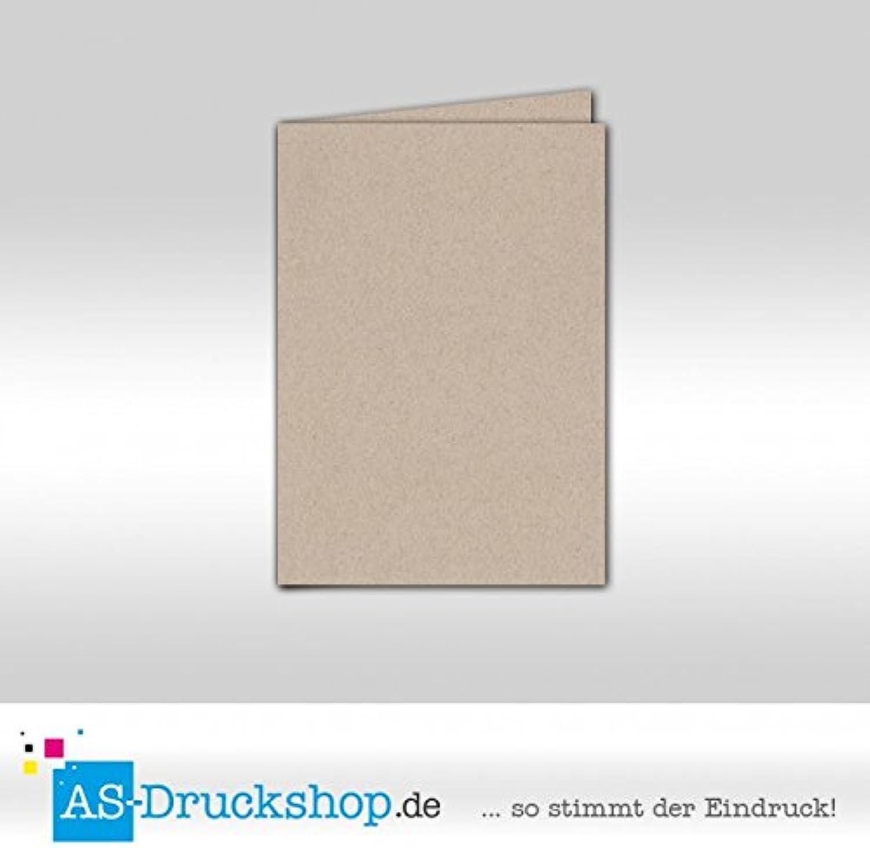 Faltkarte Doppelkarte - - - Desert - Naturfarbe 100 Stück DIN A5 B0794XRXWV   Charakteristisch  c7bccb