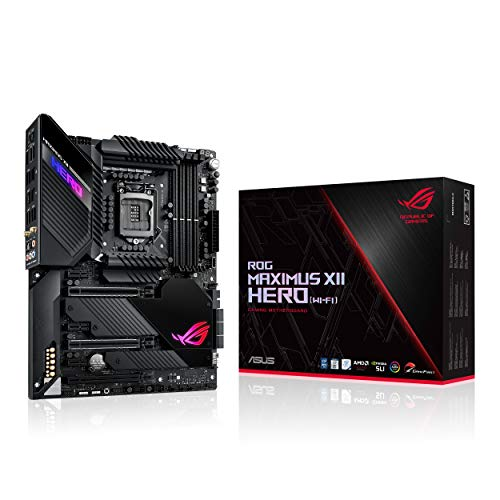 ASUS ROG Maximus XII Hero WiFi Gaming Mainboard Sockel 1200 (ATX, Intel Z490, DDR4 4666, USB 3.2 Gen 2, On-Board WiFI 6, 3x M.2-Steckplätze, Aura Sync)