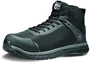 Timberland PRO Men's Drivetrain Mid Composite Safety Toe Static Dissipative Athletic Leather Work Boot, Black, 12
