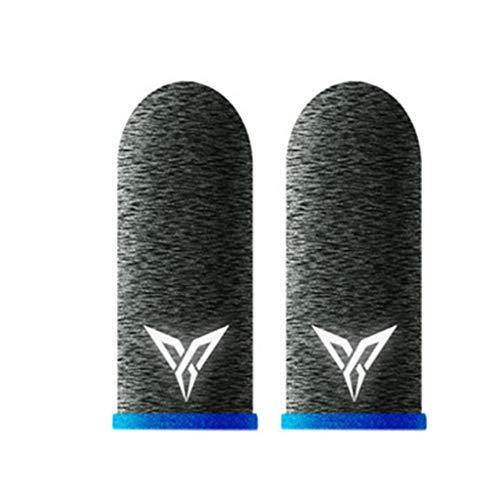 Meipai 1 coppia L1 R1 Traspirante Mobile Controller Finger Sleeve Touch Trigger compatibile per PUBG Mobile Rules of Survival Gatillos