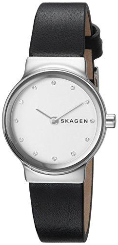 Skagen Damen Analog Quarz Uhr mit Leder Armband SKW2668