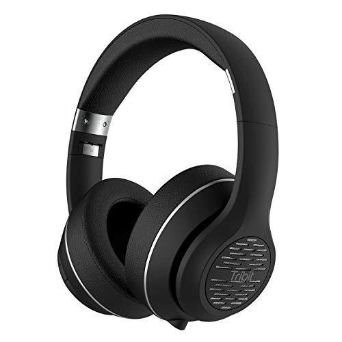 Bluetooth Kopfhörer Over Ear Pink, Tribit XFree Move Stereo Wireless Kopfhörer mit Mikrofon, Rich Bass für iPhone, Android, PC und andere Bluetooth