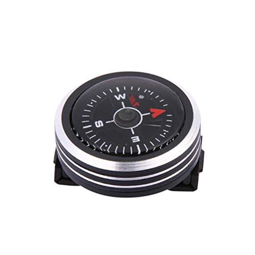 AJH Mini brújula con botón de Correa de Reloj para Pulsera de Paracord, Mini brújula de Bolsillo de Supervivencia, Accesorios para Acampar y Senderismo al Aire Libre