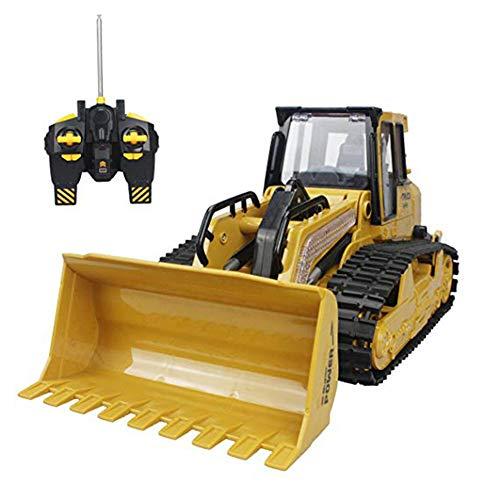 YANGSANJIN Bulldozer, 5 Canales de función Completa Bulldozer de Control Remoto sobre orugas Juguete del camión volquete del Cargador Frontal del vehículo de construcción del excavador