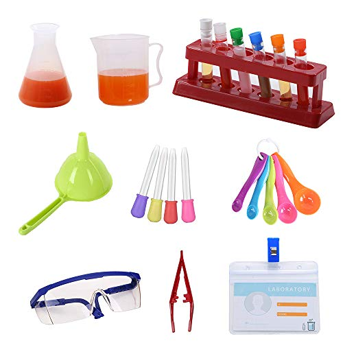Science Kits for Kids Chemistry Learning Lab Set Scientist Role Pretend Play Toys Gift for Boys Girls, Ages 3+