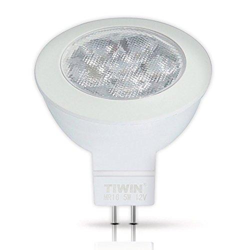 TIWIN GU5.3 / MR16 LED A+ Lampe, ersetzt 50W, Kaltweiss (5700K), 400 Lumen, 5W, 36 Grad Abstrahlwinkel