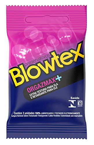 Preservativo Orgazmax com 3 Unidades, Blowtex