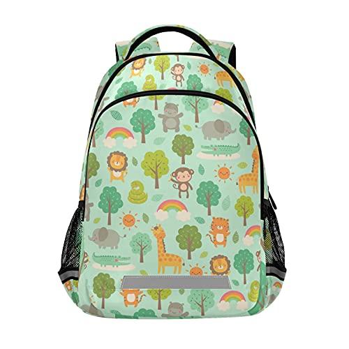 Mochila para portátil para niñas y niños, duradera y bonita, con tira reflectante de 42,4 x 29,5 x 17,5 cm