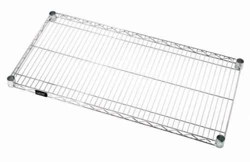 Quantum Storage 1848C-1 Extra Wire Shelf for 18 Deep Wire Shelving Unit Chrome Finish 800 lb Load Capacity 1 H x 48 W x 18 D